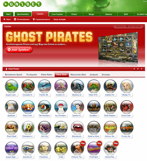Ghost Pirates Uni Bet Casino